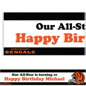 Custom Cincinnati Bengals Banner 6ft
