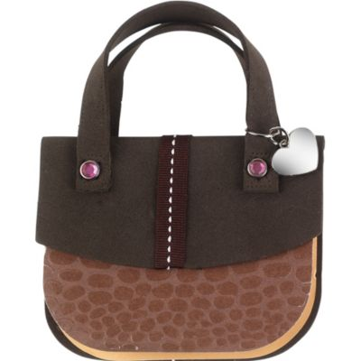 Brown Crocodile Handbag Notepad