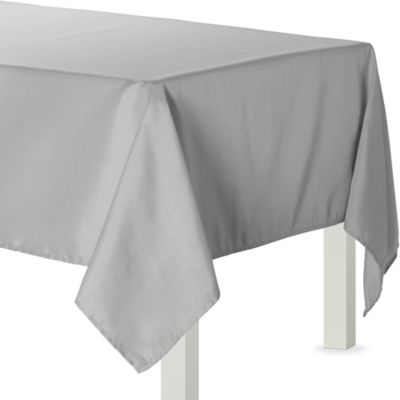 Silver Fabric Tablecloth
