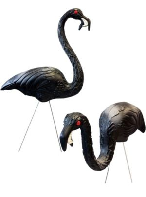 Zombie Flamingo Yard Decorations 2ct