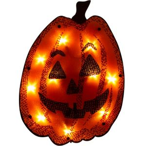 Light-Up Shimmer Jack-o-Lantern