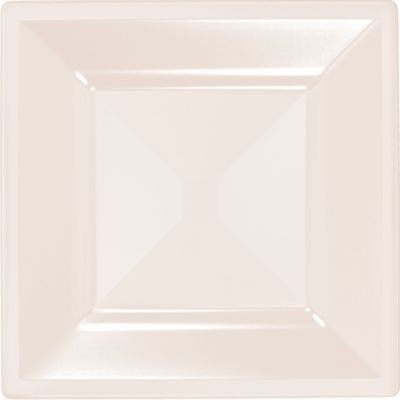 Off-White Premium Plastic Square Dinner Plates 10ct