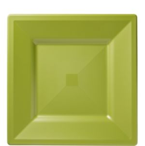 Avocado Premium Plastic Square Lunch Plates 10ct