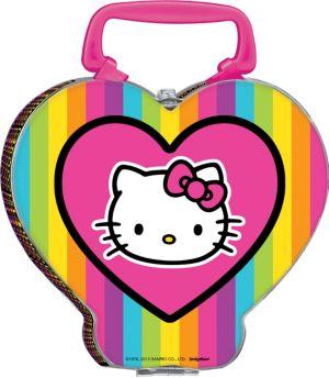 Neon Hello Kitty Tin Box