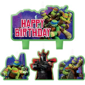 Teenage Mutant Ninja Turtles Birthday Candles 4ct