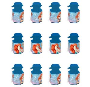Little Mermaid Mini Bubbles 12ct