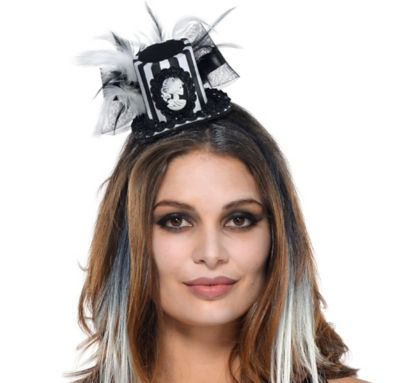 Black and Bone Mini Top Hat