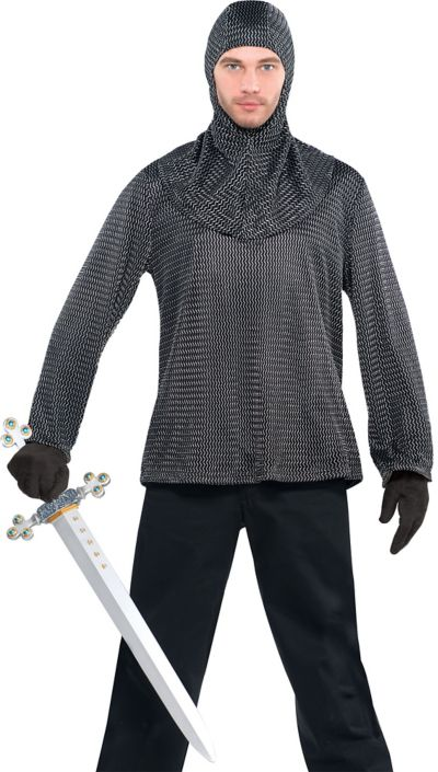 Adult Chainmail Tunic and Cowl