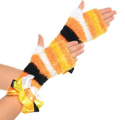 Child Candy Corn Fairy Glovelettes