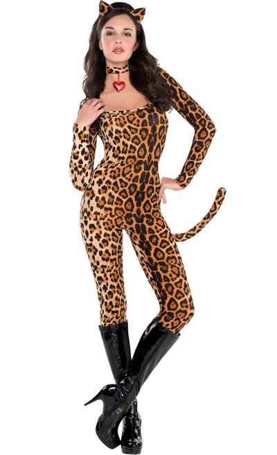 Adult Leopard Catsuit Costume