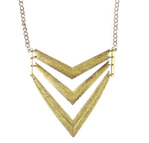 Gold V Pendant Necklace
