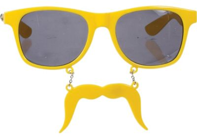 Yellow Handlebar Sun-Stache