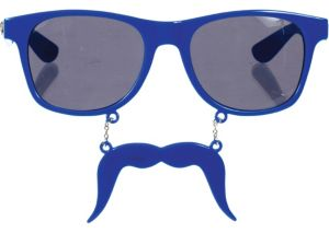 Blue Handlebar Sun-Staches