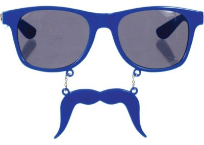 Blue Handlebar Sun-Stache