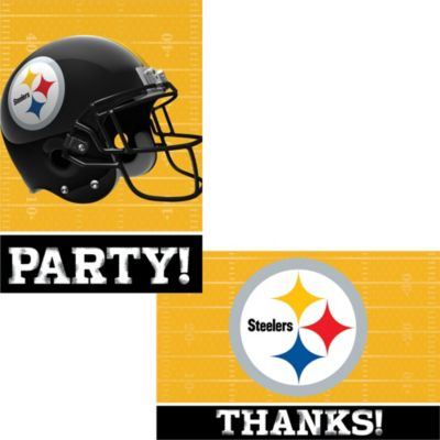 Pittsburgh steelers invitations thank you notes for 8 party city filmwisefo
