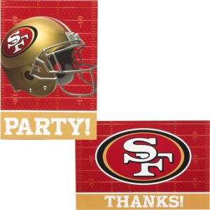 San Francisco 49ers Invitations & Thank You Notes For 8