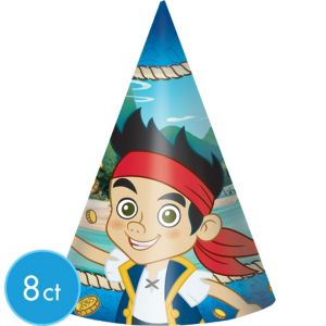 Jake and the Never Land Pirates Party Hats 8ct