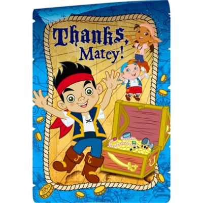 Jake and the Never Land Pirates Thank You Notes 8ct