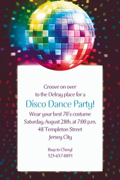 Custom Disco Fever Invitations