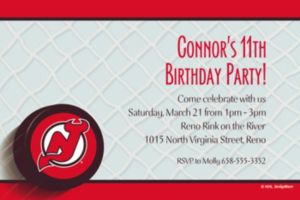 Custom New Jersey Devils Invitations