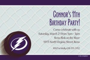 Custom Tampa Bay Lightning Invitations