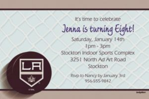 Custom Los Angeles Kings Invitations
