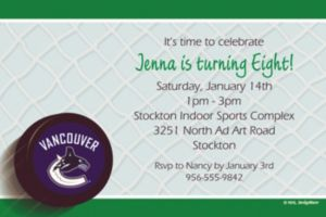 Custom Vancouver Canucks Invitations