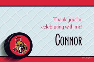 Custom Ottawa Senators Thank You Notes