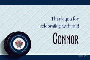Custom Winnipeg Jets Thank You Notes