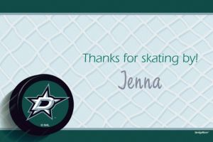 Custom Dallas Stars Thank You Notes