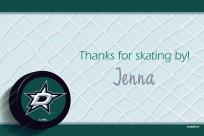 Dallas Stars Custom Thank You Note