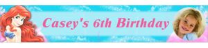 Custom Little Mermaid Ariel Photo Banner 6ft