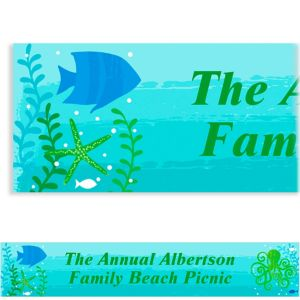 Custom Cool Sea Banner 6ft