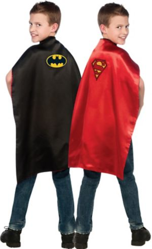 Child Reversible Batman and Superman Cape