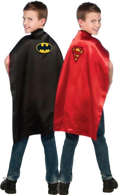 Child Reversible Batman and Superman Cape