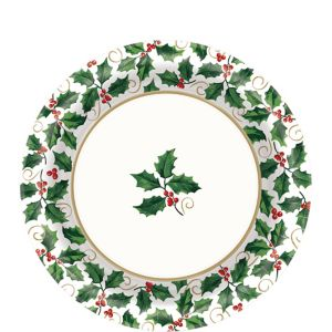 Seasonal Holly Lunch Plates 40ct