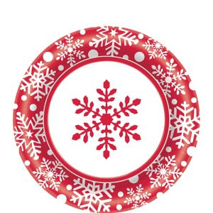 Winter Holiday Lunch Plates 40ct