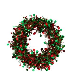Tinsel Holiday Circle Wreath