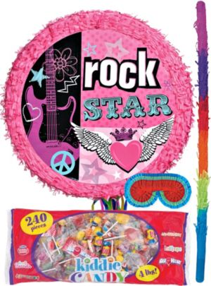 Pull String Rocker Girl Drum Pinata Kit