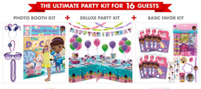 Doc McStuffins Party Supplies Ultimate Kit for 16 Guests