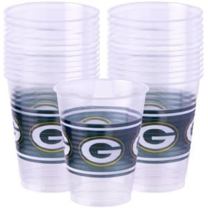 Green Bay Packers Plastic Cups 25ct
