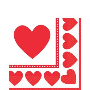 Sweet Love Valentine's Day Lunch Napkins 16ct