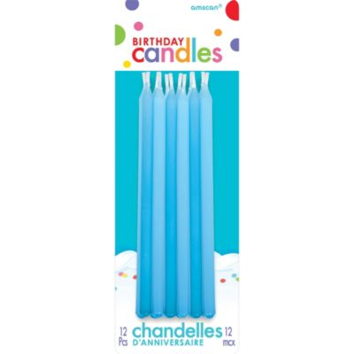 Blue Taper Candles 12ct