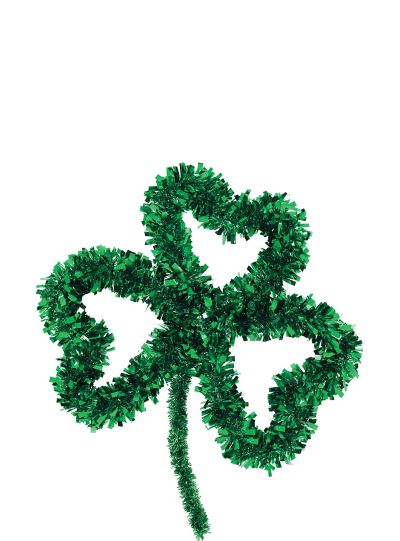 Tinsel Shamrock Wreath