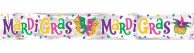 Foil Mardi Gras Banner