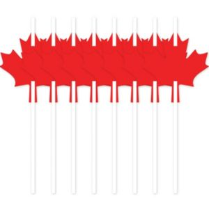 Maple Leaf Straws 6ct