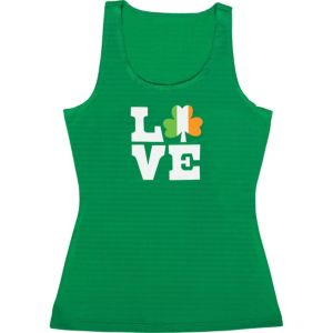 Adult Love Shamrock Tank Top