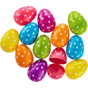 Polka Dot Fillable Easter Eggs  12ct