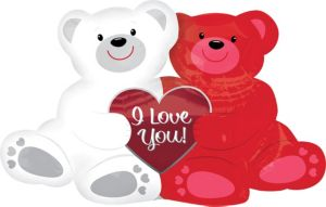I Love You Balloon - Giant Love Bears