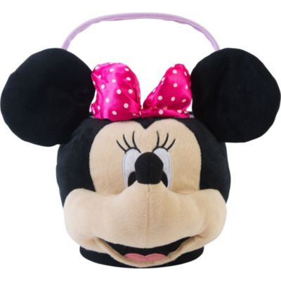 Plush Minnie Mouse Easter Basket